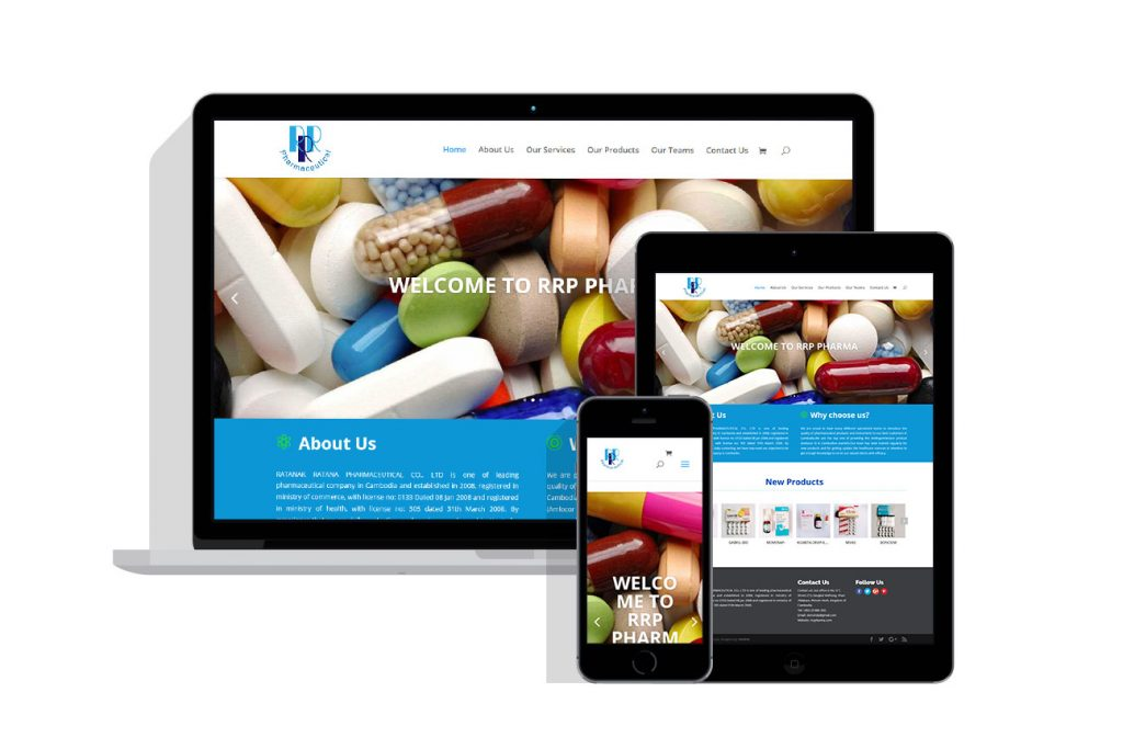 Web Design Project for rrp pharma