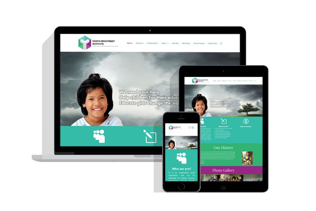 Web Design Project for youth investment institute